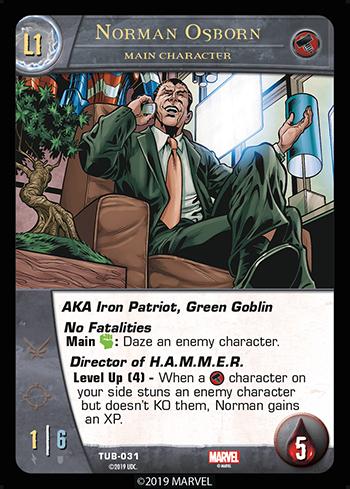 Vs System 2PCG Main Character Norman Osborn Level 1