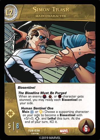 Vs System 2PCG Battles Simon Trask Main Character Level 2
