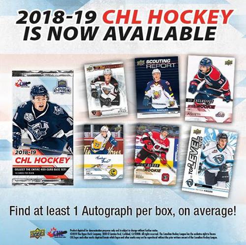 2018-19 upper deck chl hobby box