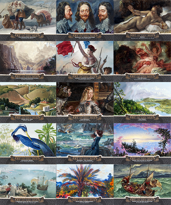 goodwin champions art of the ages hand painted masterpiece cards sketch