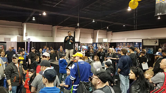 upper deck spring expo free raffle booth