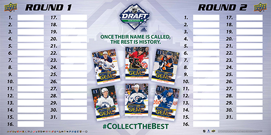 2019 upper deck nhl draft board vancouver gems