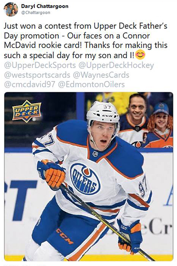 upper deck random acts of kindness personalized card mcdavid
