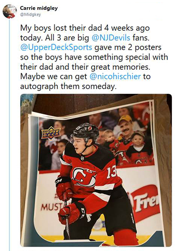 upper deck random acts of kindness personalized card fan engagement