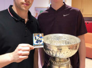 Vince Dunn Shares Trading Cards and the Stanley Cup with Sick Kids in Toronto
