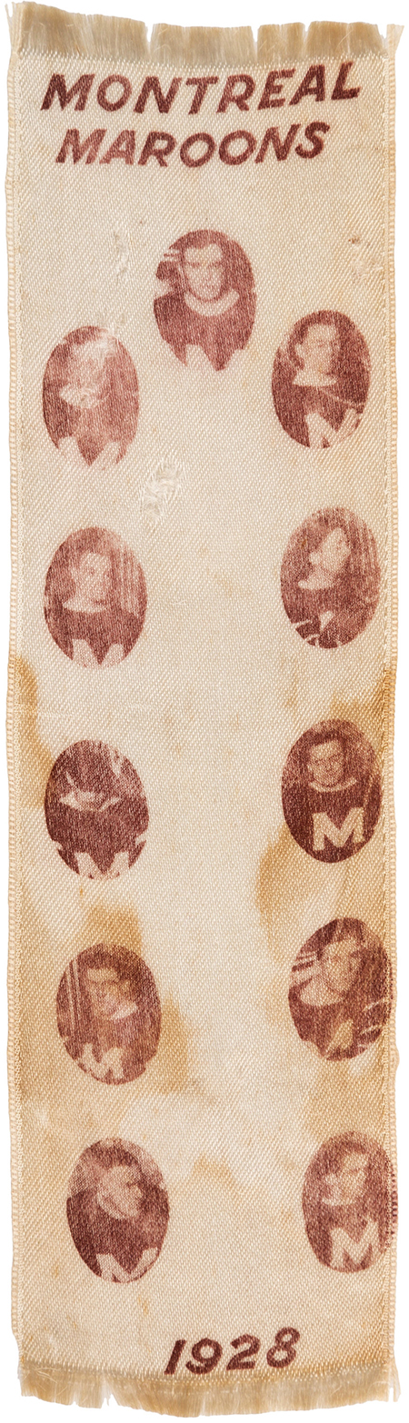2918 montreal maroons team ribbon