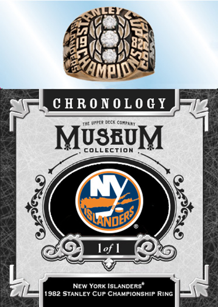 nhl chronology upper deck stanley cup champion ring card new york islanders