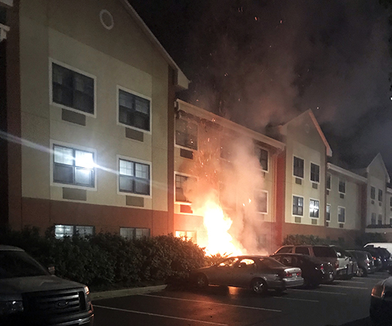 2019 gen con fire extended stay hotel indianapolis