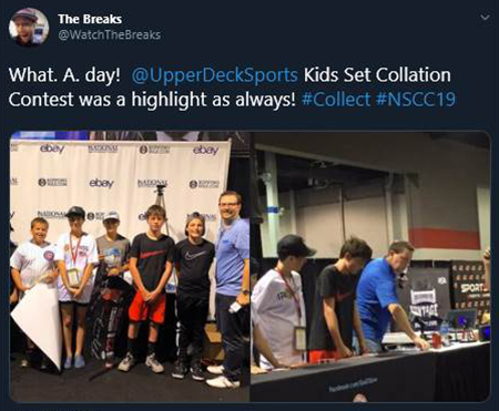 upper deck go gts live national sports collectors convention collation game contest