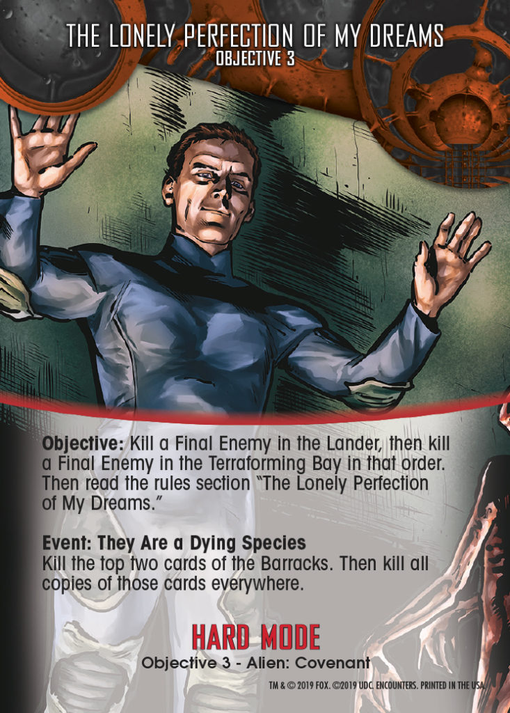 Legendary Encounters Alien Covenant Objective 3 The Lonely Perfection of my Dreams