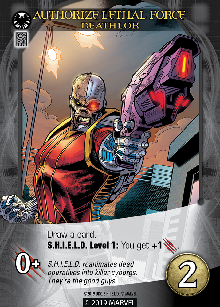 Legendary SHIELD Hero Card Deathlok