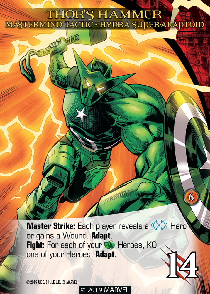 Legendary Shield Mastermind Tactic Thor's Hammer Hydra Super-Adaptoid