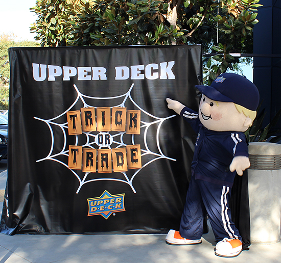 upper deck trick or trade community relations event