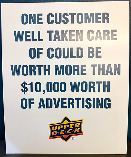 upper deck customer care well taken care of worth more than advertising