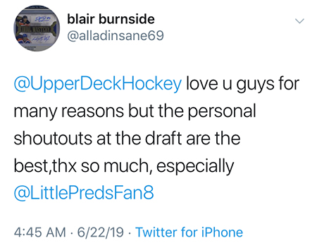 upper deck customer experience nhl draft