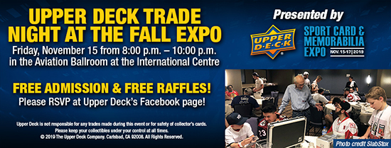 upper deck fall expo trade night