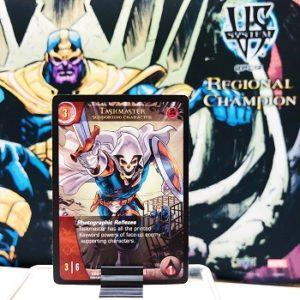 2019-upper-deck-vs-system-2pcg-marvel-league-play-organized-taskmaster-thanos-promo-card-playmat
