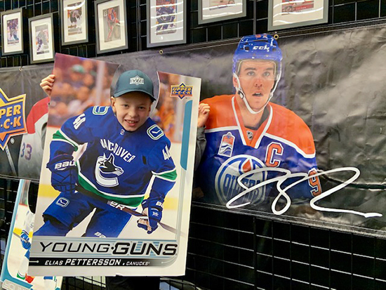 upper deck card artist kid owen hockey nhl fan engagement fun