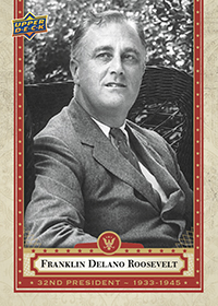 Franklin Delanore Roosevelt Presidential Card
