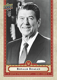 Ronald Reagan Presidential Card