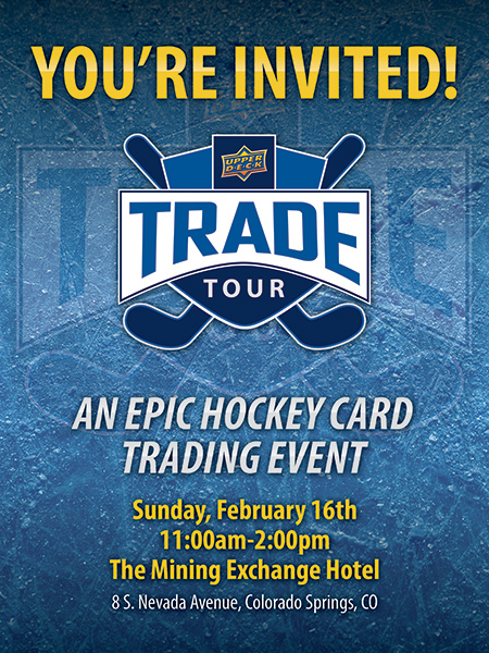 upper deck trade tour hockey card show