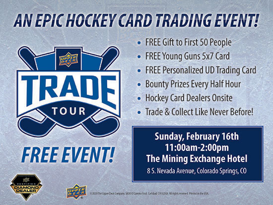 upper deck hockey card trade tour event show