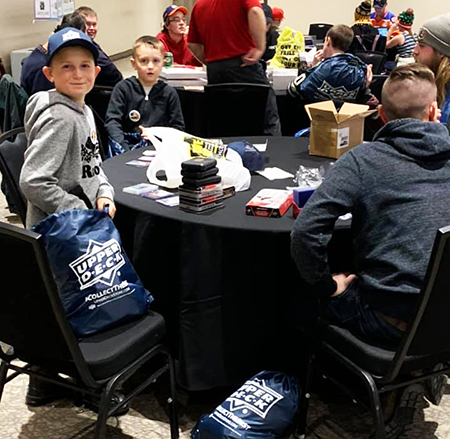 upper deck hockey card trade tour event