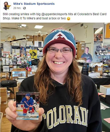 mikes stadium sportscards upper deck hit