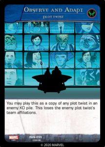 5-2020-upper-deck-marvel-vs-system-2pcg-fantastic battles-plot-twist-observe-adapt