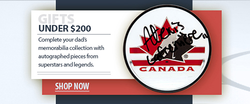 2020 father's day hockey memorabilia under $200