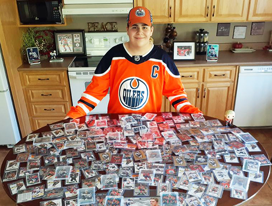 edmonton oilers super collector fan kid recchi roubichaud
