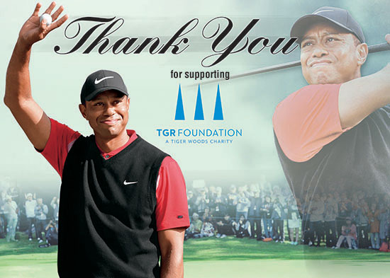 tiger woods foundation upper deck authenticated partnership