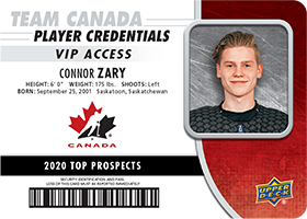 Connor Zary - Top Prospect Card - 2020 NHL Draft - Team Canada