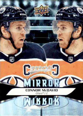 upper deck kid designer mvp mirror nhl card