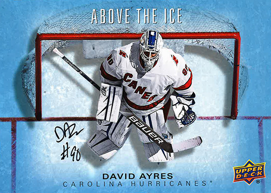 upper deck david ayers above the ice autograph