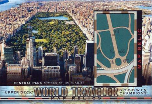 goodwin champions world travelers relic map card central park new york
