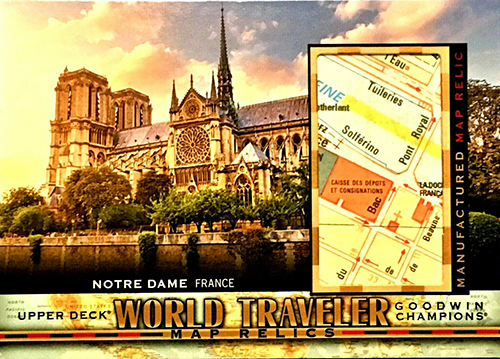 goodwin champions world travelers map relic trading card innovative fun gift