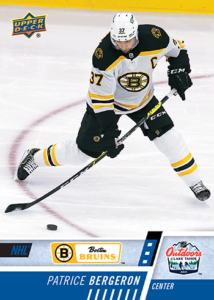 NHL Outdoor Games at Lake Tahoe - Patrice Bergeron  Card